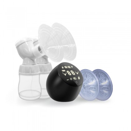 Milk Planet Orbit - Dual-Motored Breastpump with 9 levels of Suction & Stimulation mode